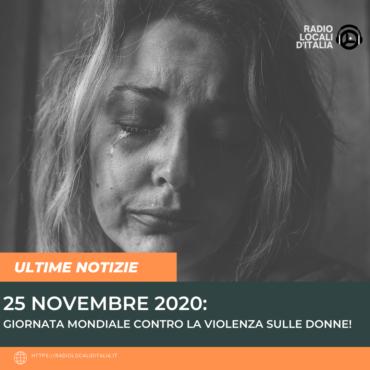 Giornata mondiale contro la violenza sulle donne.