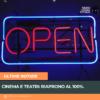 Cinema e teatri: riaprono al 100%.